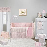Cotton Tale Designs 8 Piece Crib Bedding Set, Sweet & Simple, Pink/White