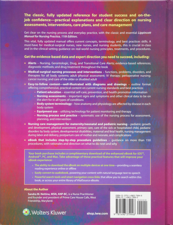 Lippincott Manual of Nursing Practice: Amazon.co.uk: Sandra M Nettina MSN  APRN BC ANP: 9781496379948: Books