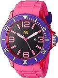 40Nine Unisex 40NINE01/PINK1 Extra Large 50mm Analog Display Japanese Quartz Pink Watch