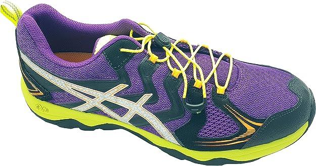 Asics Gel Fuji viper 2- Zapatillas para Correr en montaña (Mujer/Hombre) Purple/Silver/Nectarine, Color Morado, Talla 44 EU: Amazon.es: Zapatos y complementos