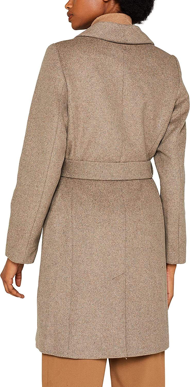 ESPRIT Collection Damen Mantel Beige (Light Taupe 5 264)