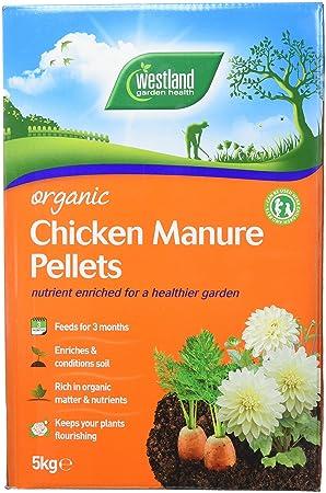 Westland Abono orgánico gallinas, en pellets, 5 kg