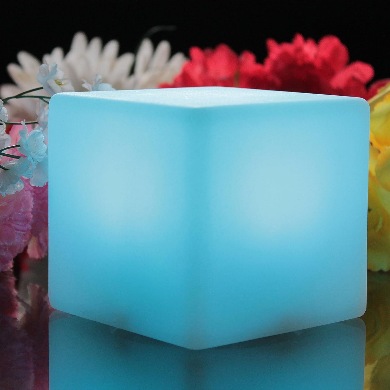 Veilleuse Enfant LED Cube RGB PK Green Lampe Chevet /à Pile