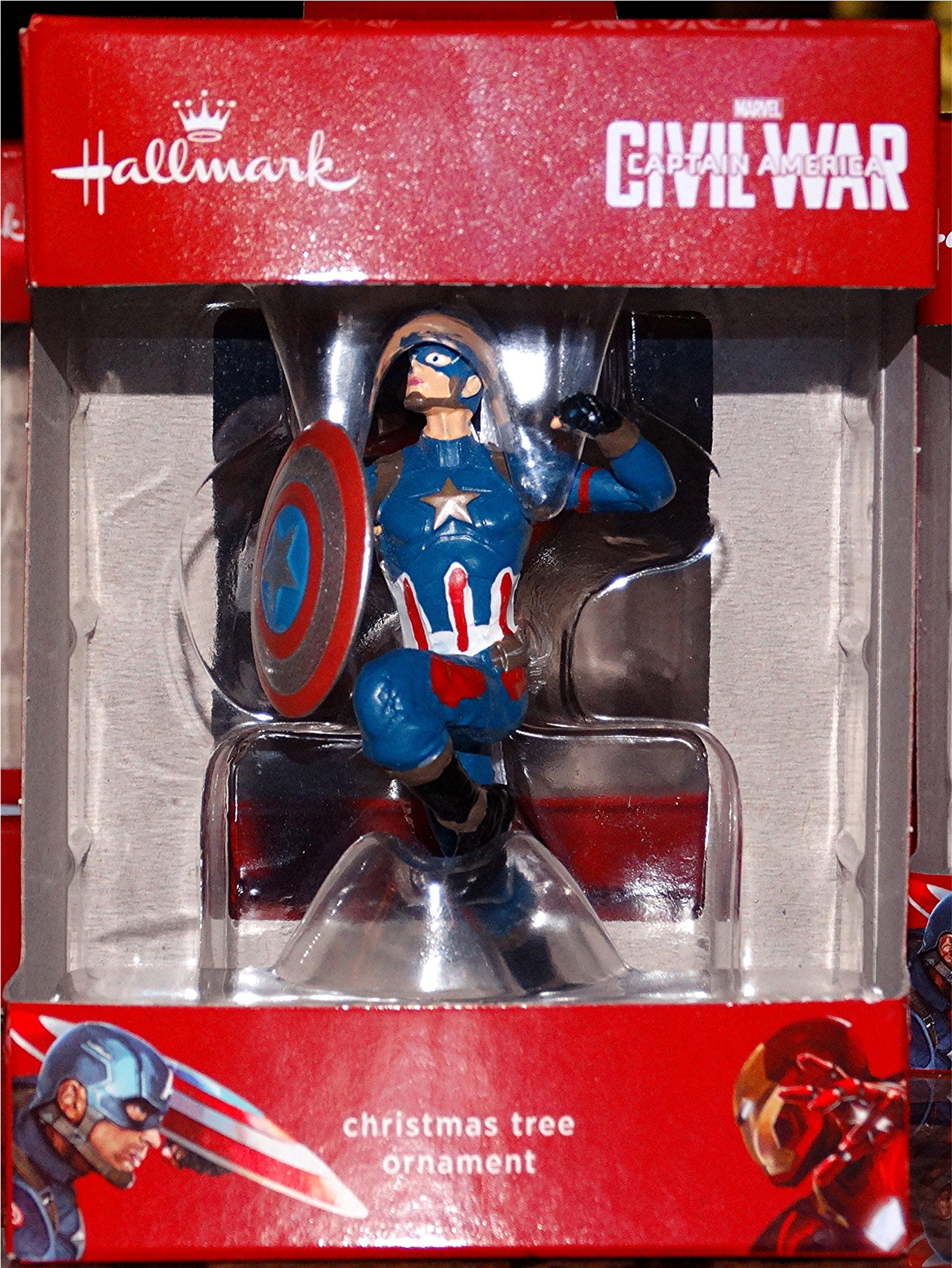 Hallmark Marvel Civil War Captain America Christmas Tree Ornament