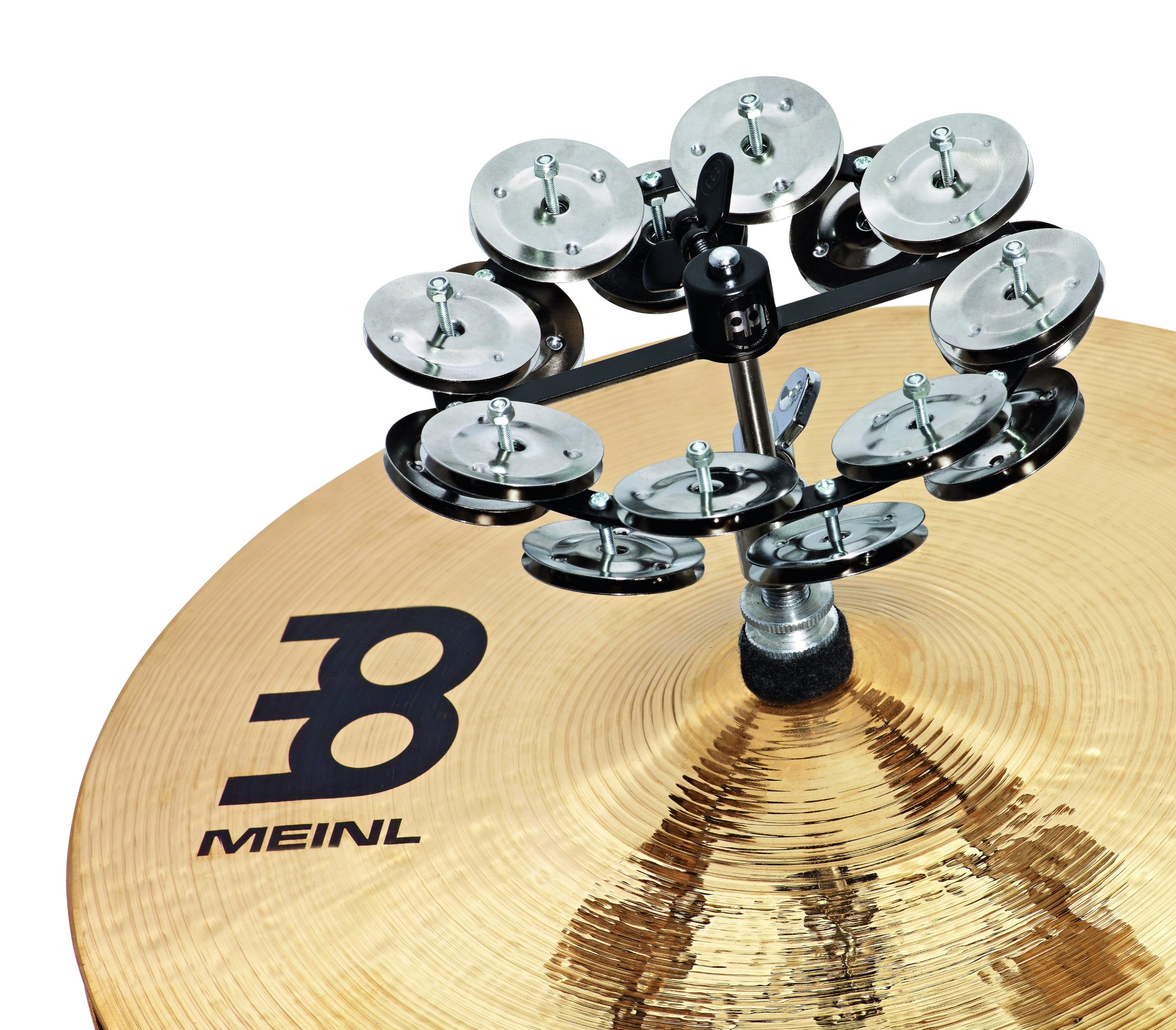 Meinl Percussion HTHH2BK Headliner Series Hi-Hat Tambourine With Double Row Steel Jingles 5-Inch - Black by Meinl Percussion (Image #2)