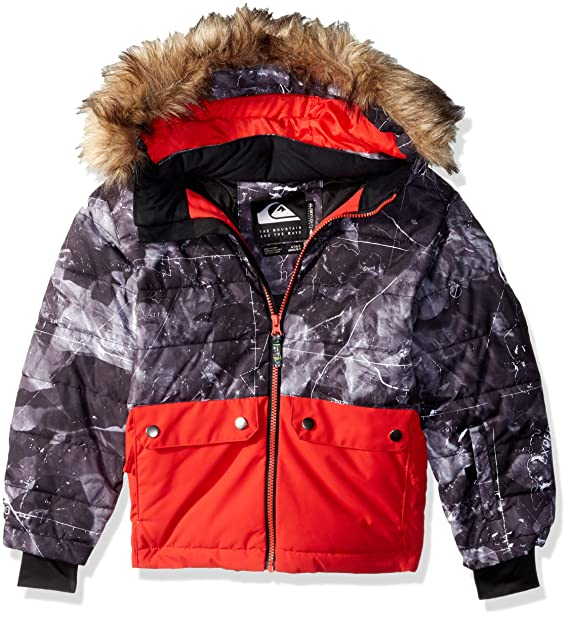 ae1b8348c Quiksilver Boys  Big Edgy Kids 10k Grow System Snow Jacket  Amazon ...