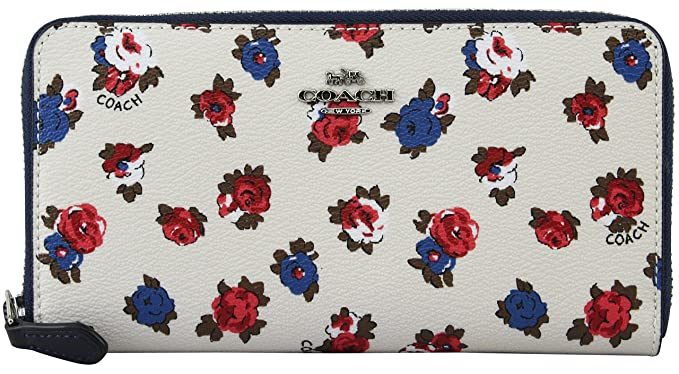 836bbab89416 Image Unavailable. Image not available for. Color  Coach Women s Tea Rose  Flora Accordion Zip Wallet ...
