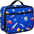 Wildkin Lunch Box, Insulated, Moisture Resistant, and Easy to Clean with Extras for Quick and Simple Organization, Ages 3+, Perfect for Kids or On-The-Go Parents, Olive Kids Design, Out of this World