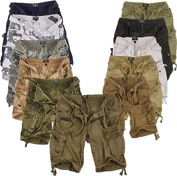 TALLA XXL. Geographical Norway Cortos Cargo Pantalones Cortos Bermudas Con Cinturón Pantalones cortos Hunter en el Bundle con UD PAÑUELO