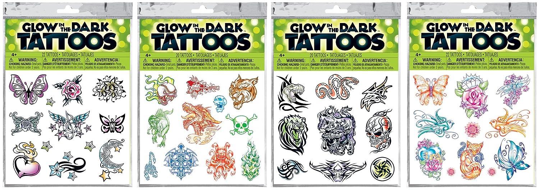 Savvi Assorted Glow-in-the-Dark Temporary Tattoos Kit by Savvi ...
