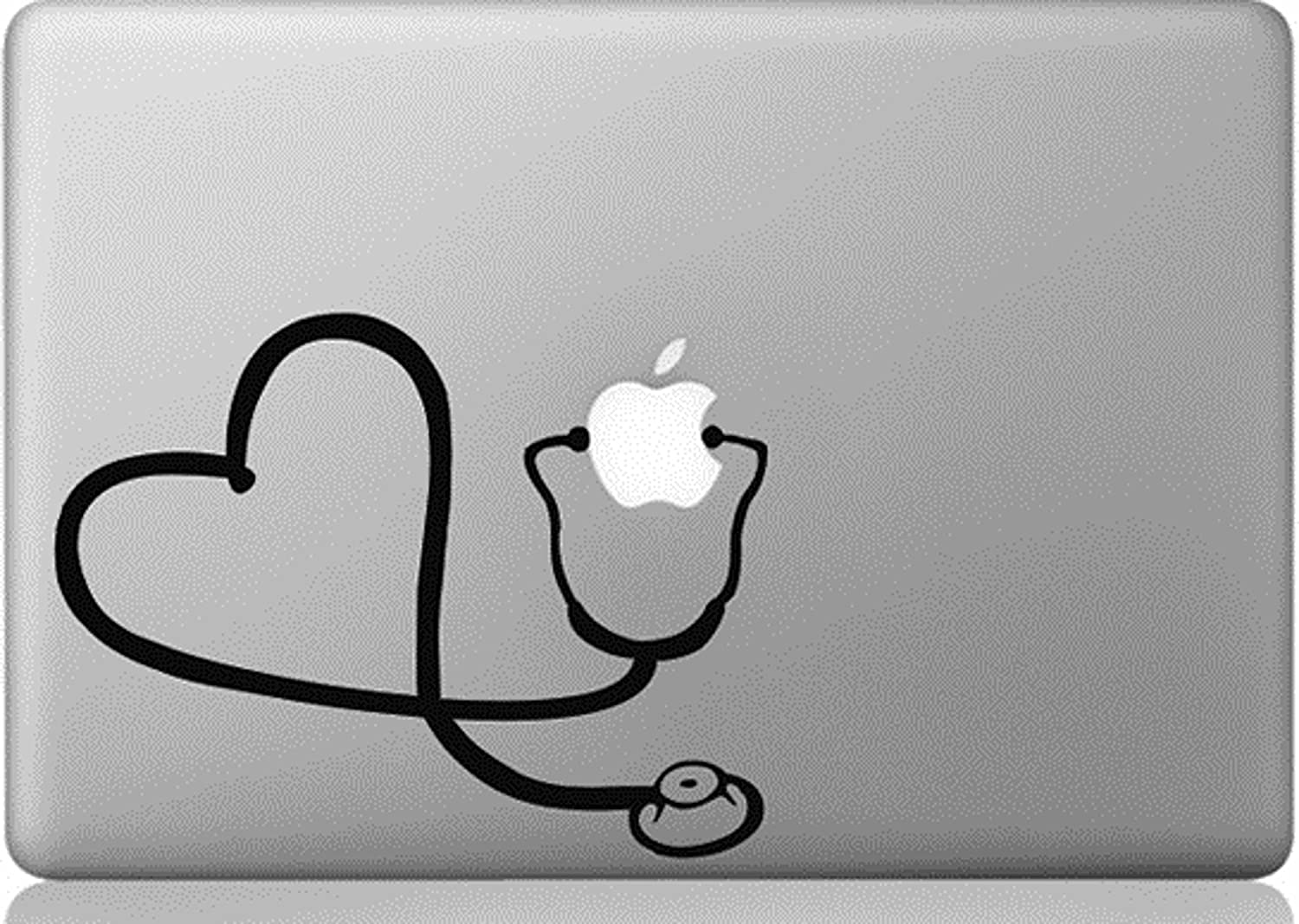 Stethoscope Heart Decal Sticker for Laptop Computer Car Truck Phone