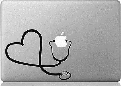 Apple macbook vinyl decal sticker stethoscope heart