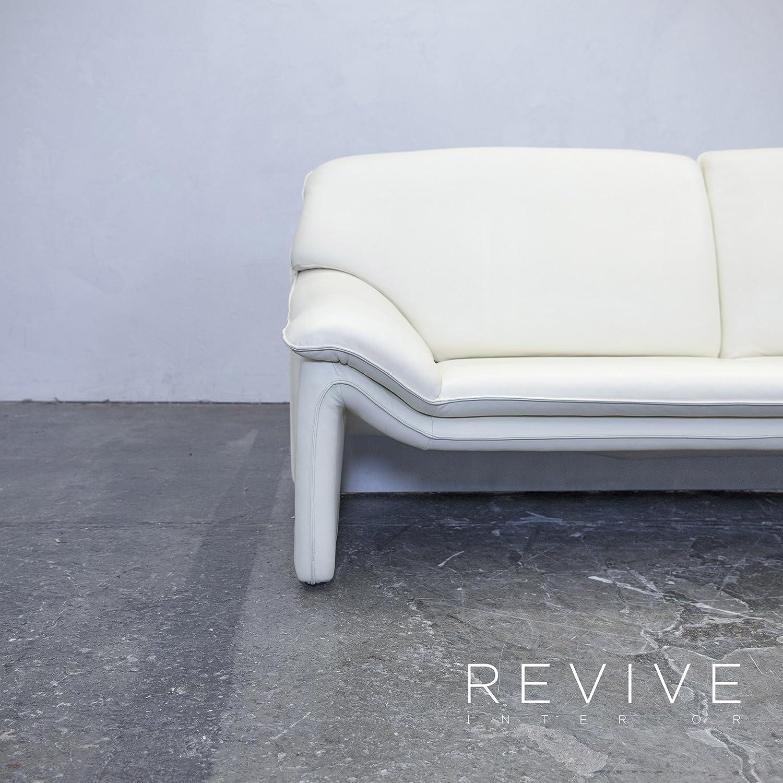 laauser Atlanta Diseñador Sofá piel crema 2 plazas sofá ...