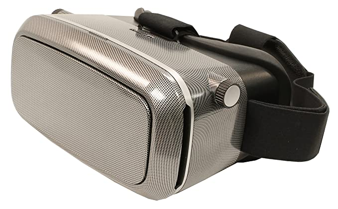 VRKiX Virtual Reality Headset VR Viewer for 360-Degree Video for  Smartphones - Includes a FREE app- Glossy Carbon Fiber Print