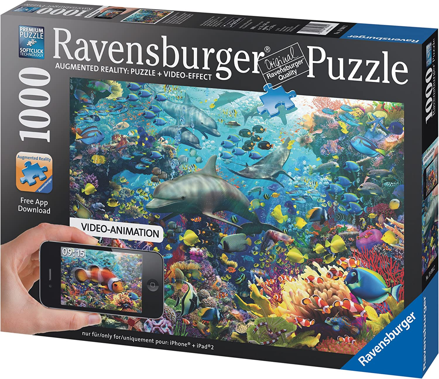 Freshwater fish jigsaw puzzles - Amazon Com Underwater 1000 Pieces Augmented Reality Puzzle Toys Games