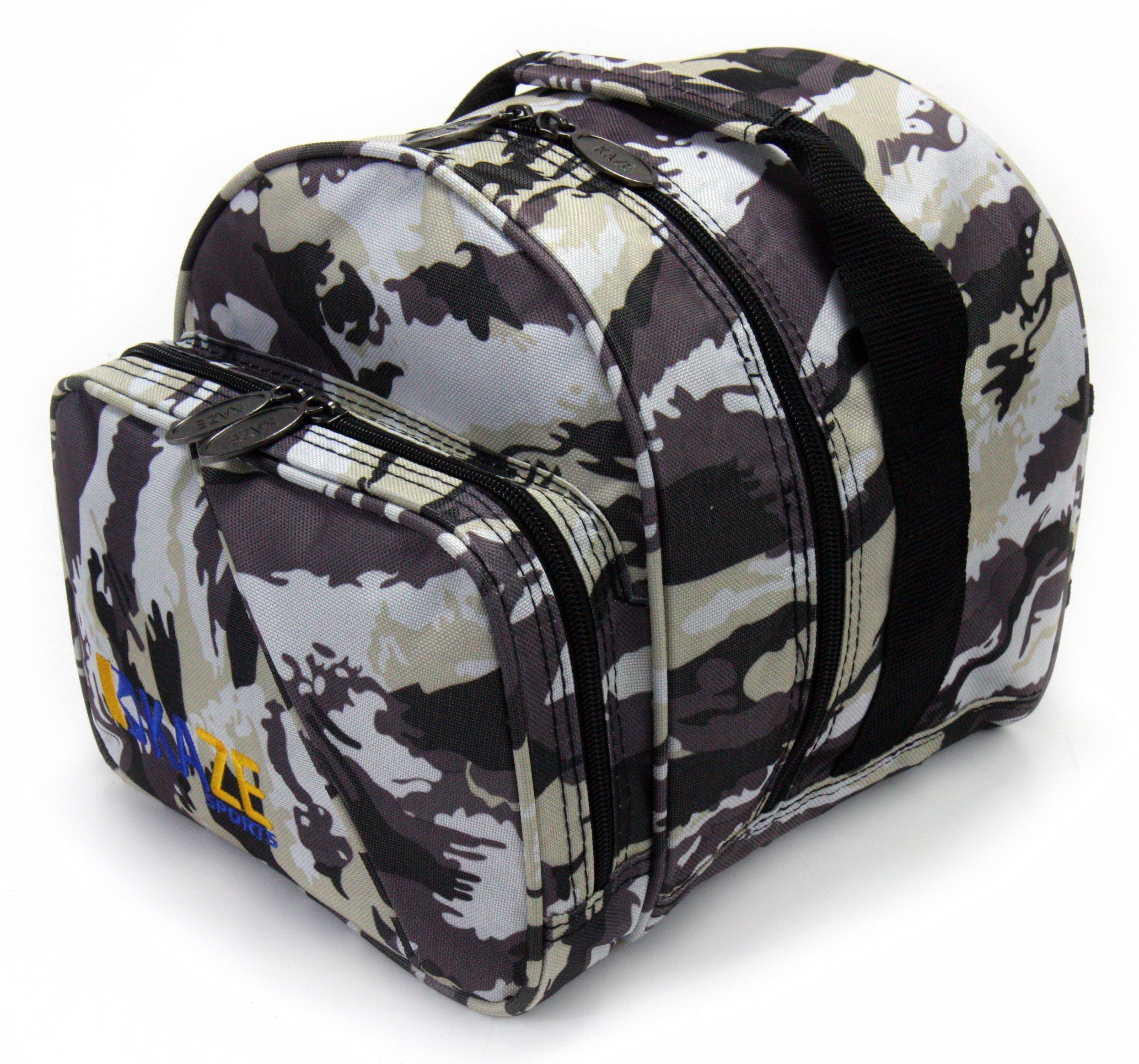 KAZE SPORTS 1 Ball Spare Kit Single Tote Bowling Add On Bag (White Camo) by KAZE SPORTS