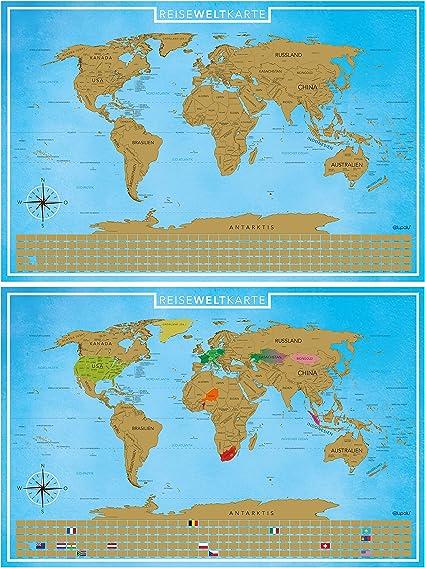 Cartine Xxl.Blupalu I Set Di 2 Cartine Del Mondo Con Rubini Xxl I Gold I Con Bandiere E Chip I World Map Poster I 89 X 59 Cm Tedesco Amazon It Casa E Cucina