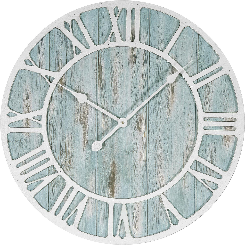 Lacrosse 404-4060 23.5 Inch Coastal Decorative Quartz Wall Clock