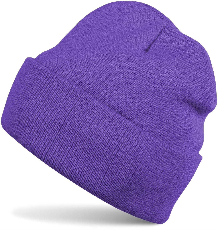 styleBREAKER klassische Beanie Strickmütze, warme Feinstrick Mütze doppelt gestrickt, Unisex 04024029