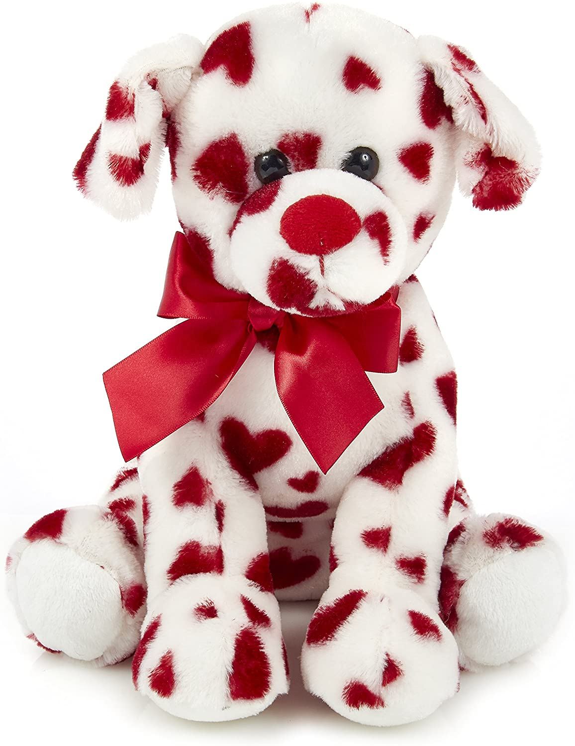 This Is Fine Dog Stuffed Animal, Amazon Com Bearington Romantic Rover Plush Stuffed Animal Puppy Dog With Hearts 12 Inches Toys Games