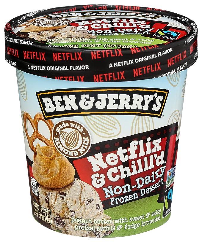 Ben & Jerry's Non-Dairy Frozen Dessert Netflix & Chilll'd Certified Vegan 16 oz