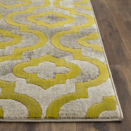 Safavieh Porcello Collection PRL7734G Light Grey and Green Area Rug 6 x 9