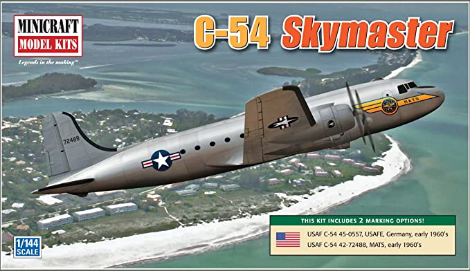 Minicraft Models C-54 Skymaster USAAF, USAFE, MATS 1/144 Scale