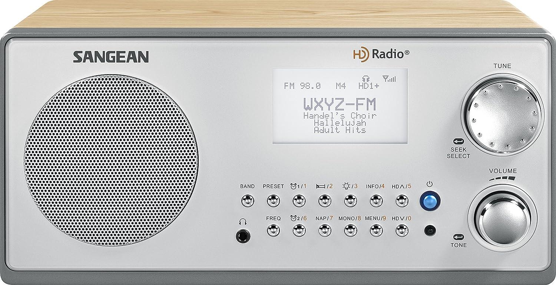 amazon com sangean hdr 18 hd radio fm stereo am wooden cabinet rh amazon com