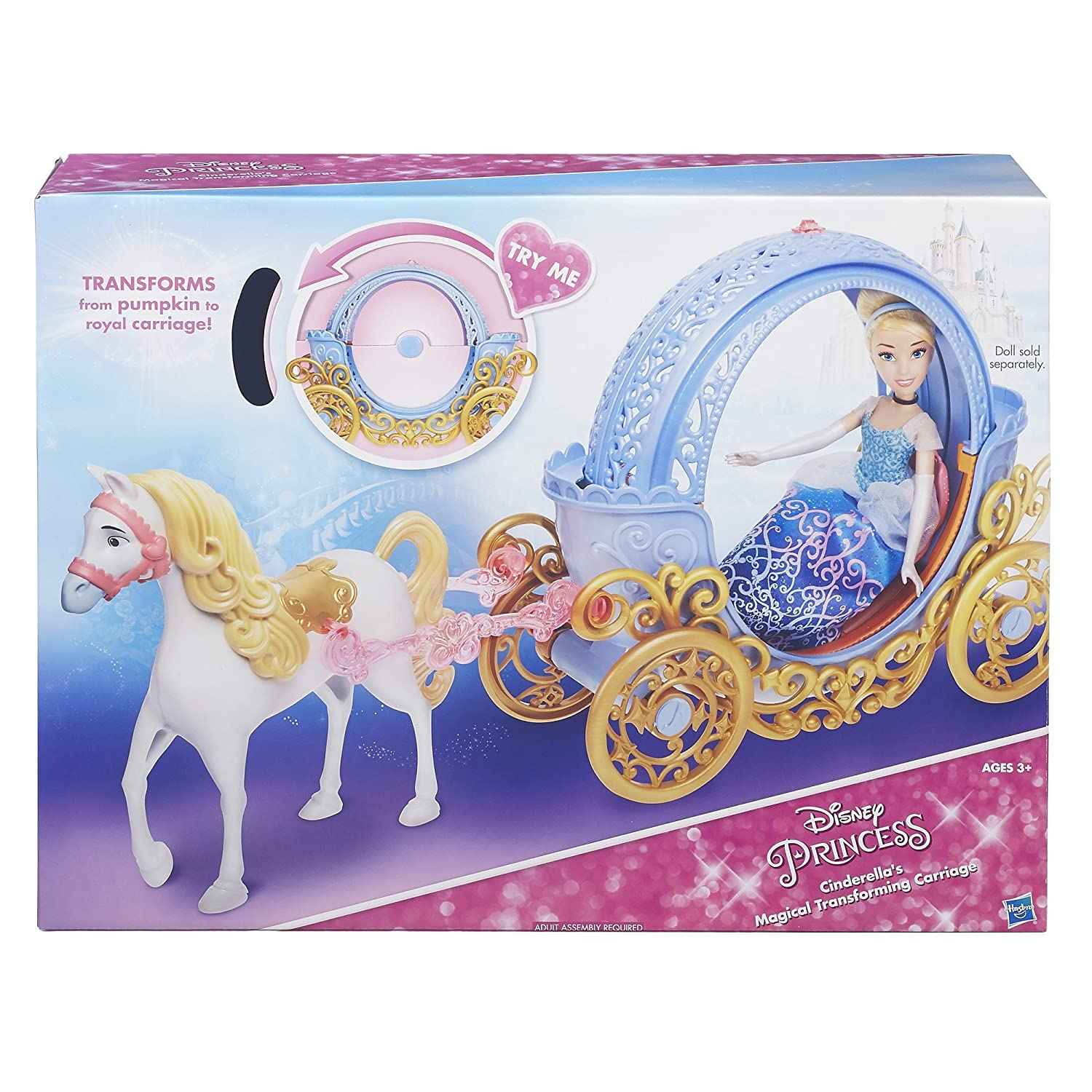Amazon.com  Disney Princess Cinderella s Magical Transforming Carriage   Toys   Games 3efdcf66a