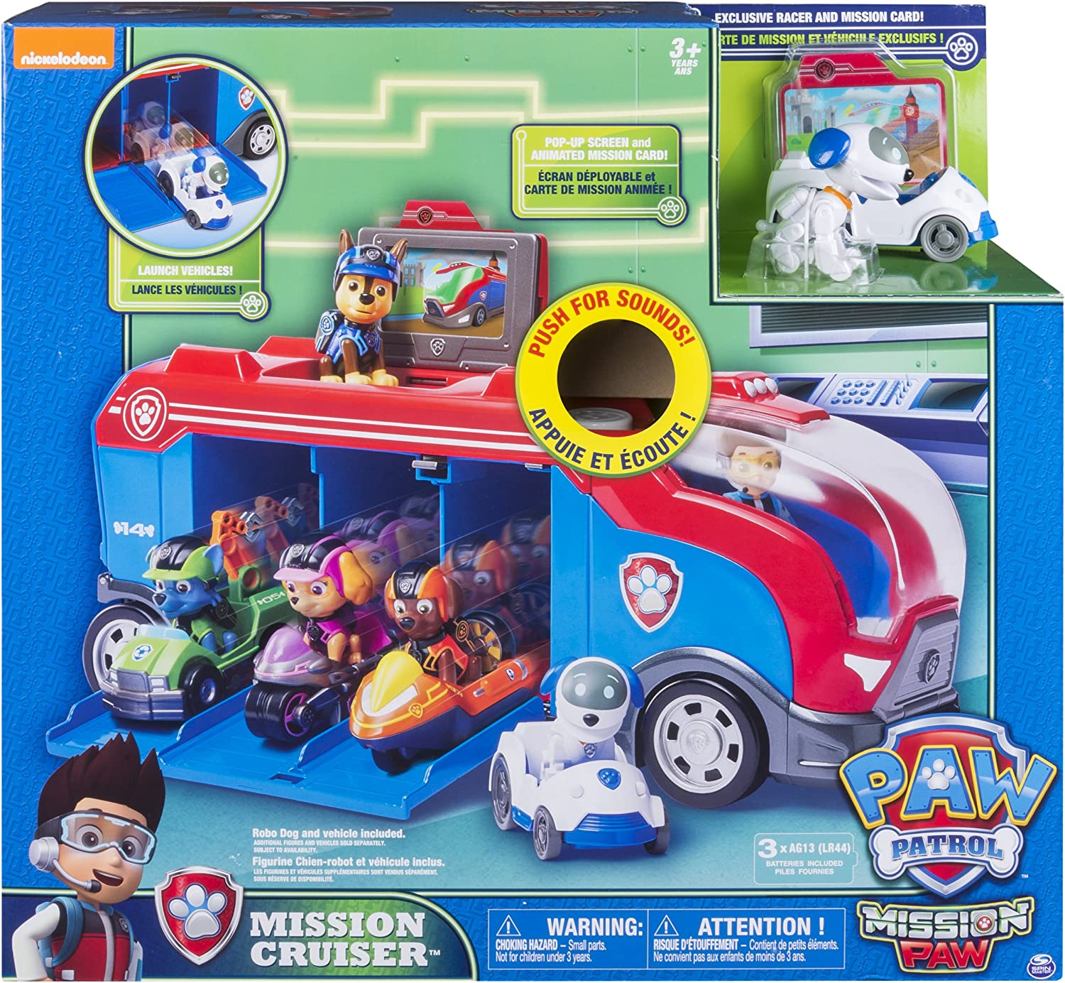 Paw Patrol Mission Cruiser Truck Vehicle Bus RV Electronic RoboDog Complete