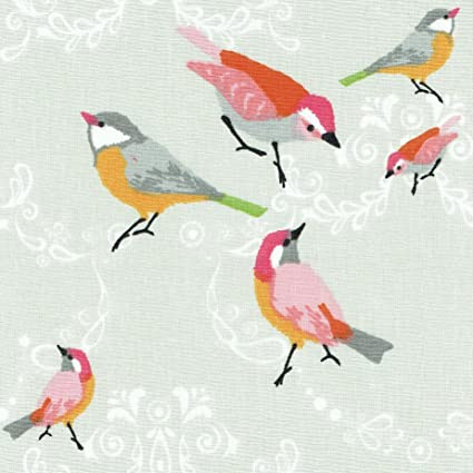"""width 160 cm 100/% Cotton Printed Fabric Per meter 63/"""" pink turquoise feathers"""