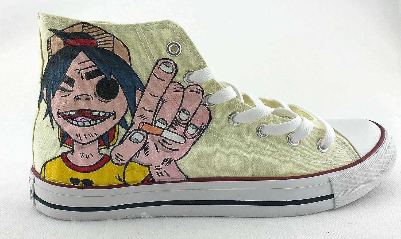 35a6aca2b1dd Amazon.com  Gorillaz Custom Shoe Chuck Sneakers Gorillaz Shoes For Sale  Hand Painted Shoes Men Women Sneakers  Handmade