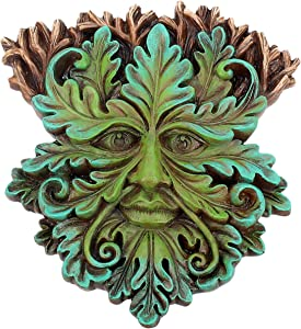 Nemesis Now Green Oak King Wall Plaque 17cm, Size 19cm
