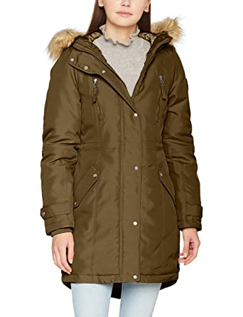 Vero Moda Women s Vmtrack Expedition 3 4 Parka, Green (Dark Olive), 1c9d098c874d