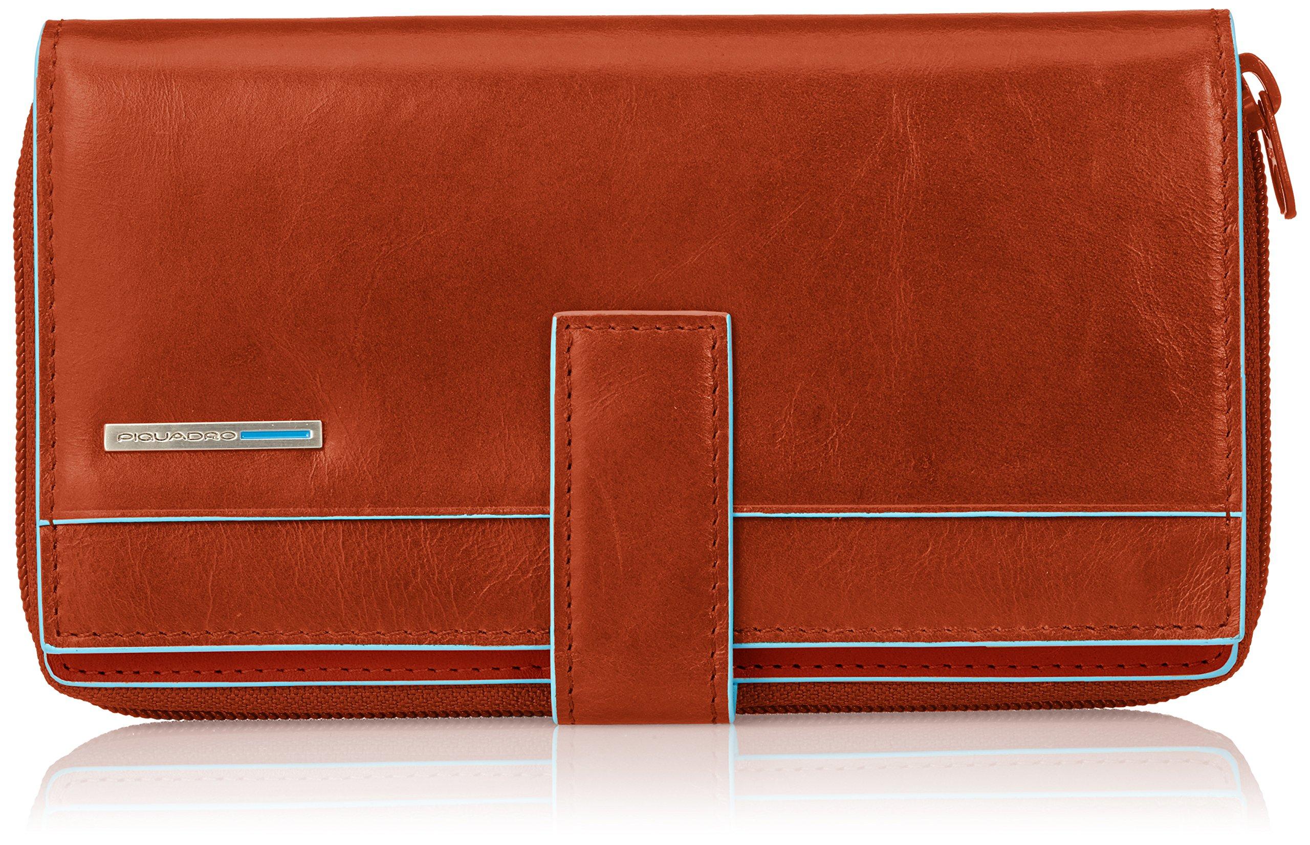 Piquadro Lady's Wallet In Leather, Orange/Orange, One Size