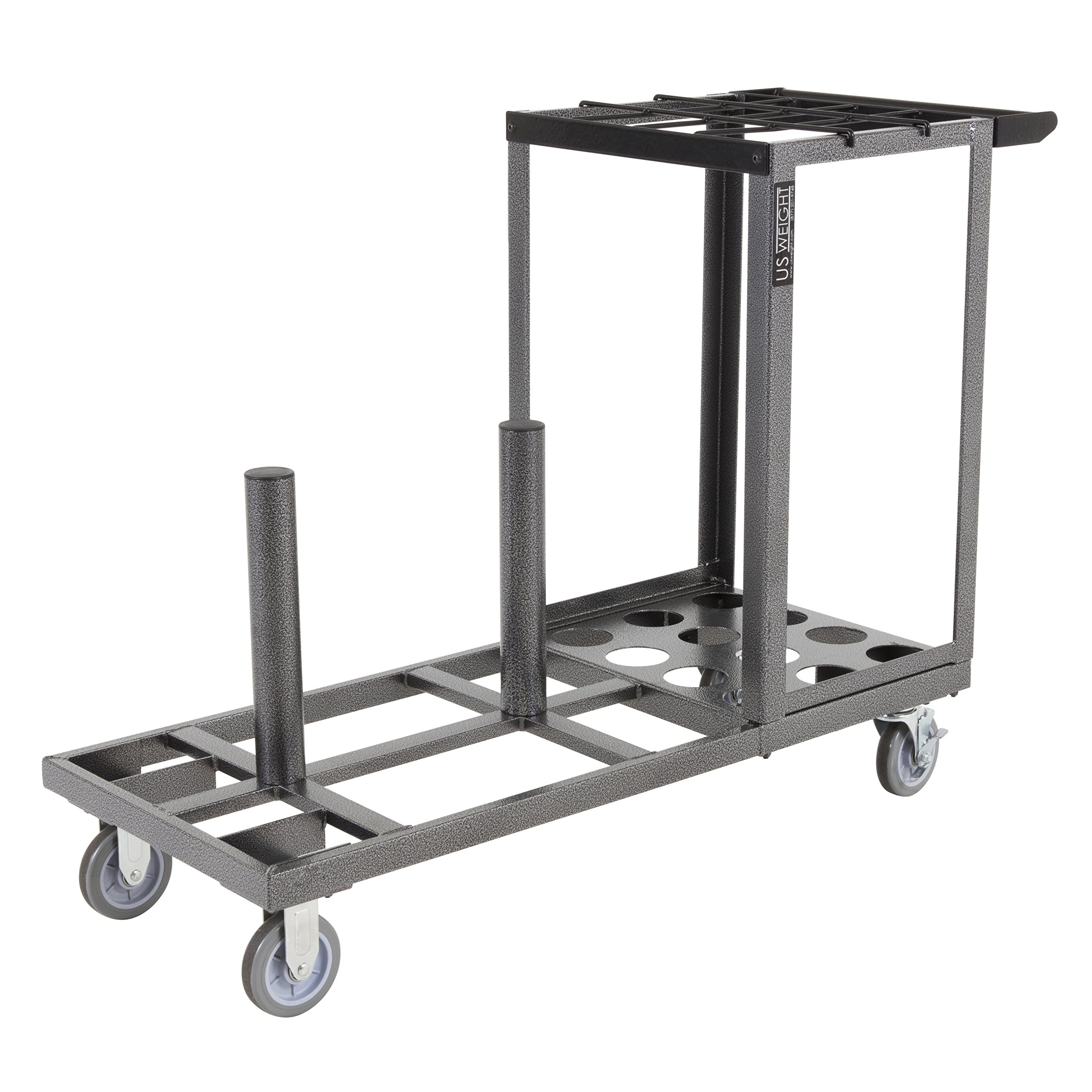 US Weight Statesman Stanchion Cart Kit – 12 Premium Black Steel Stanchions with Cart by US Weight (Image #9)