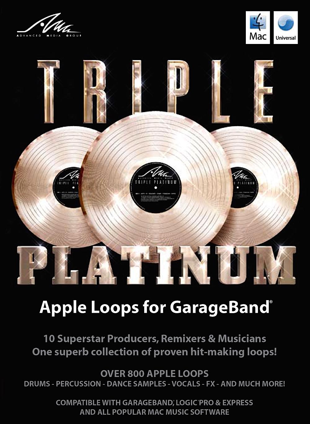 Triple Platinum Apple Loops - Massive Library of new sounds for GarageBand & Logic [Download]
