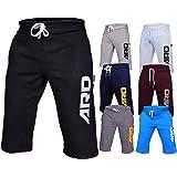 4Fit Mens Cotton Fleece Shorts Jogging Casual Home Wear MMA Boxing Martial Art Jogger