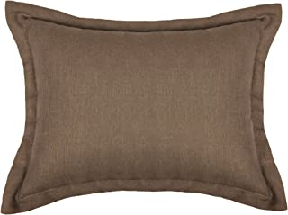 product image for Veratex Gotham Collection Contemporary Solid Style Soft 100% Linen Bedroom Boudoir Throw Pillow, Brown