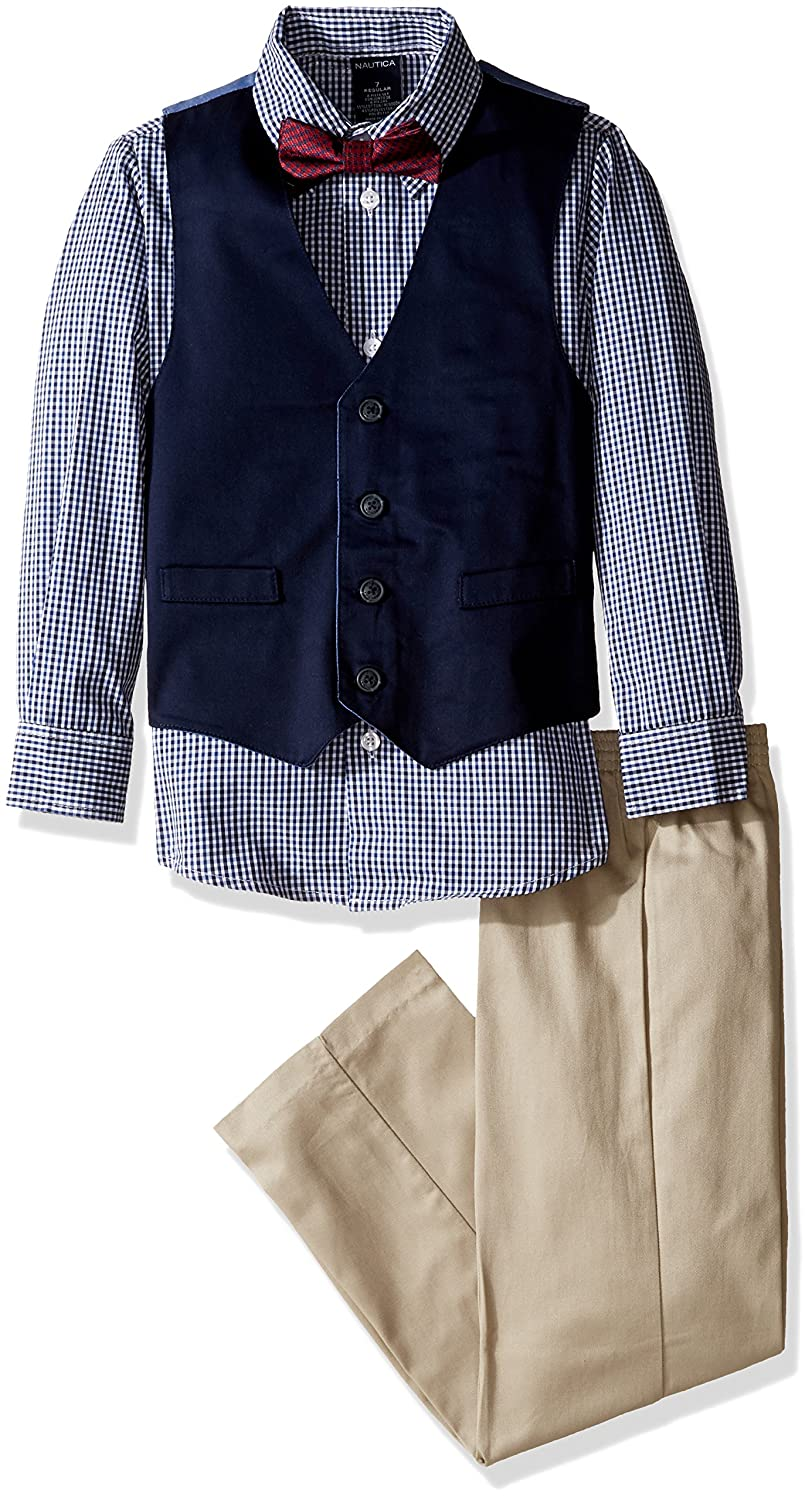 Nautica Boys' Set with Vest, Pant, Shirt, and Bow Tie N335338