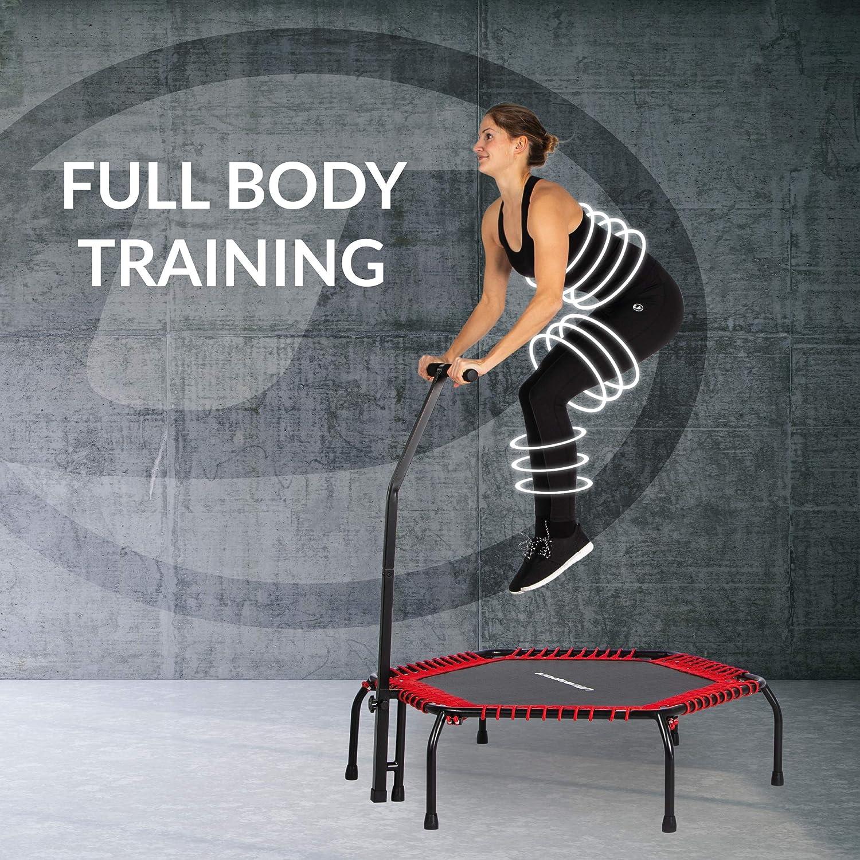 Ultrasport Cama elástica fitness, manillar estable y ...