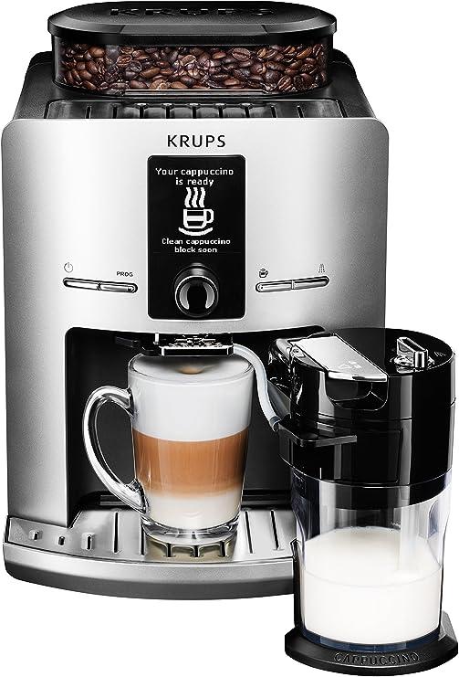 Krups EA 829E - Cafetera automática, 1450 W, 1.7 l, color gris ...