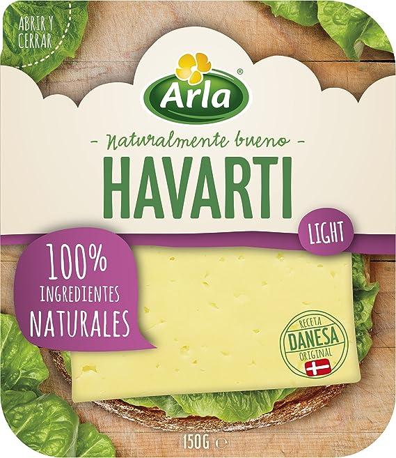 Arla Queso Havarti Light Lonchas, 150g (Refrigerado): Amazon ...