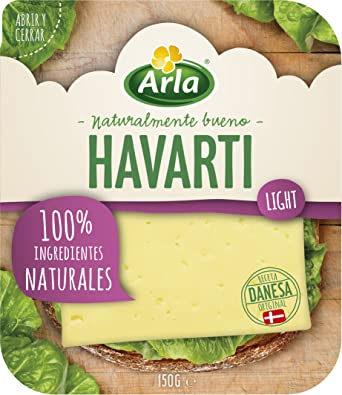 Arla Queso Havarti Light Lonchas 100% Natural - 150 gr