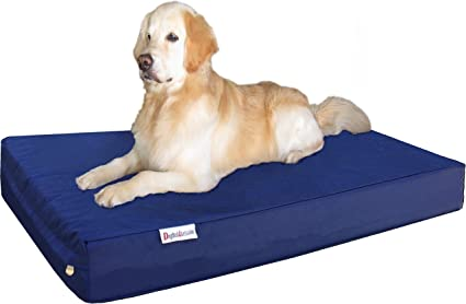 Amazon Com Dogbed4less Jumbo Extra Large Gel Infused Memory Foam Dog Bed With 1680 Nylon Heavy Duty Cover And Waterproof Liner 55x37x8 Inches Blue Pet Supplies