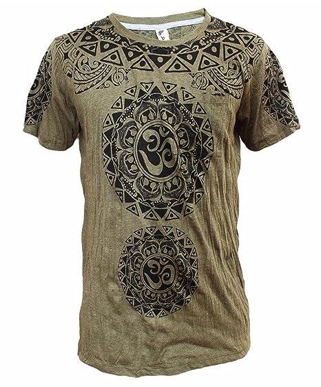 Yoga Shirts Camiseta Ganesha Para hombres Dios Hindú del Elefante Om T-Shirt: Amazon.es: Ropa y accesorios