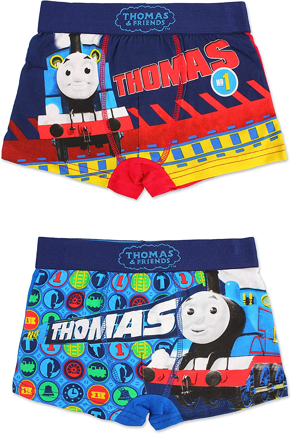 Boys Thomas Trunk 2 in A Pack Kids Thomas Boxer Shorts Trunk Age 2-8 Years