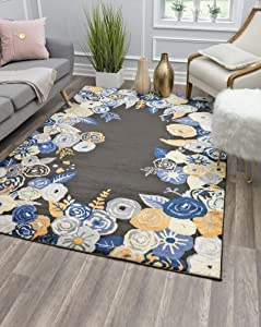 "Rugs America Area Rug, 5'0""X7'0"", Royal Blossom Golden Onyx"