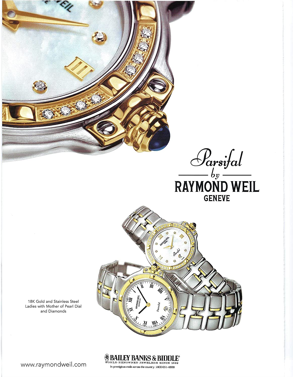 Amazon Com 2000 Vintage Print Ad For Bailey Banks Biddle Parsifal Raymond Weil Geneve Posters Prints