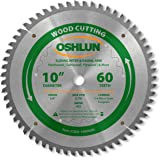 Oshlun SBW-100060N 10-Inch 60 Tooth Negative Hook Finishing ATB Saw Blade with 5/8-Inch Arbor for Sliding Miter and Radial Arm Saws